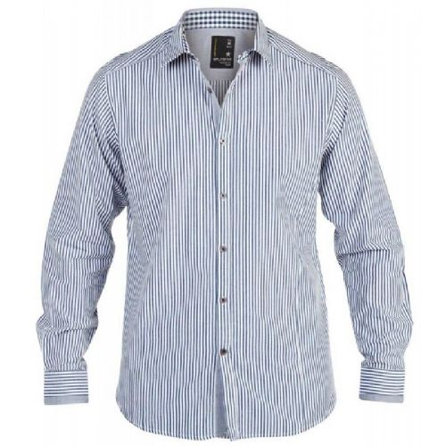 SPLITSTAR Blue/White Stripe Fashion Shirt